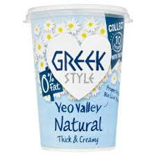 Yeo Valley Greek Style 0% Fat Natural Yogurt 450g