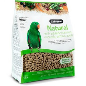 Natural Diets-Parrots & Conures 3lb