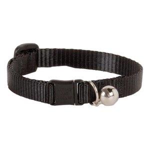 Lupine Cat Collar Black With Bell -1/2 Basics 1pc