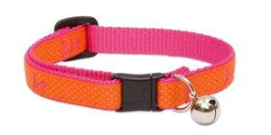 Cat Collar Sunset Orange With Bell 1pc