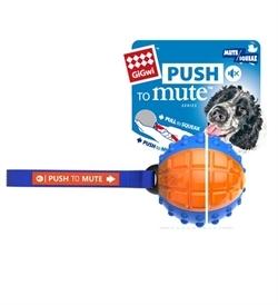 Gigwi Push To Mute Regular Ball Blue/Orange 7.5x7.5x7.5cm