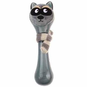 Gigwi Friendz Medium Black Plush Squeaky Dog Toy 1pc