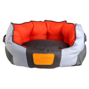 Gigwi Place Small Orange & White Pet Bed 53x40x21cm