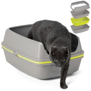 Moderna Open Cat Toilet Grey With Lemon (Aa72) 54x43x27 cm