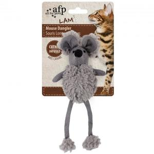All for Paws Lambswool Mouse Dangler Grey 1pc