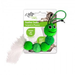 All for Paws Feather Snake Green 1pc