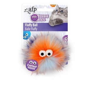 All For Paws Fluffy Ball Orange 1pc