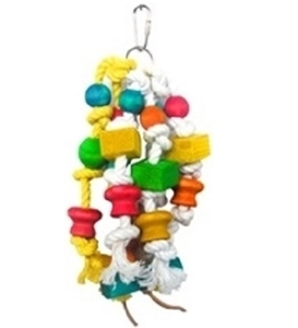 Pado Multicolor Hanging Bird Toy With Wooden Beads 1pc