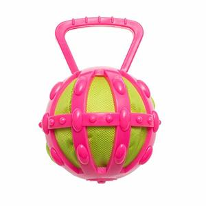 Chomper Tpr Cage With Tennis Ball Transperent 5""