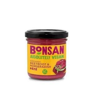 Bonsan Beetroot Horseradish Pate Organic Vegan 130g
