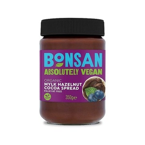 Bonsan Mylk Hazelnut Cocoa Spread Orga Vegan Palm Oil Free 350g