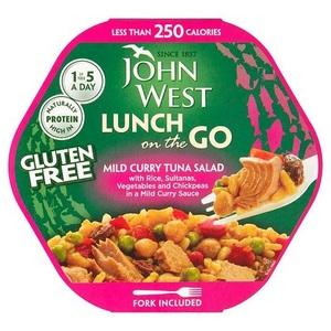 John West Tuna Sala Lunch Mild Curry 220g