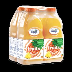 Masafi Pineapple Fruit Juice Shrink Wrap 4x2L