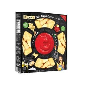 Gurme 212 Pita Chips & Dip-in Sauce 100g