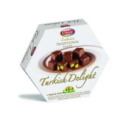 Usas Chocolate Pistachio Turkish Delight (Cikolata Kapli Fistikli Lokum) 170g