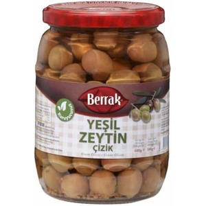 Scratched Green Olives (cizik Yesil Zeytin) 680g