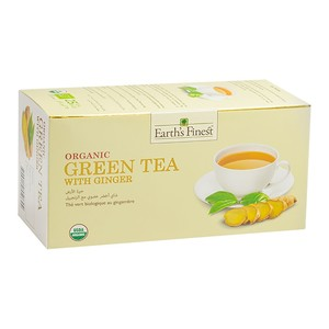 Earth's Finest Organic Green Tea With Ginger 25bags