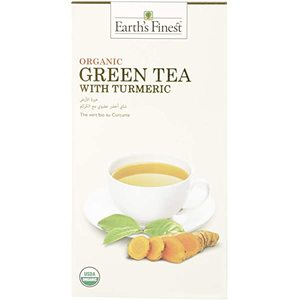 Earth's Finest Organic Green Tea With Turmeric 25bags
