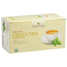 Earth's Finest Organic Green Tea With Mint 25bags