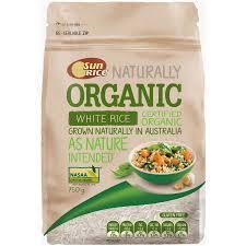Sunrice Organic White Rice 750g