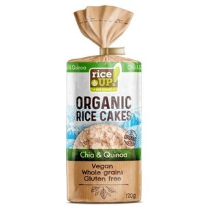 Rice Up Organic Brown Rice Cakes Chia & Quinoa 120g
