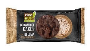 Rice Up Gluten Free Brown Rice Cakes With Belgian Dark Chocolate 90g