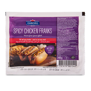 Emborg Spicy Chicken Franks 340g