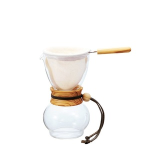 Hario Drip Pot Woodneck Olive Wood 240ml