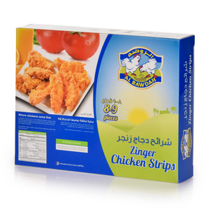 Al Rawdah Frozen Chicken Zinger Strips 320g