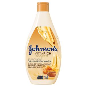 Johnson's Vita-Rich Rejuvenating Oil-In-Body Wash 400ml