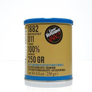 Vergnano Decaffeinated Ground Coffee 250g