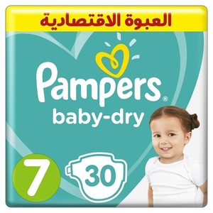 Pampers Baby-Dry Diapers Size 7 15+Kg Giant Pack 30 pcs
