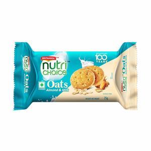 Britannia Nutri Choice Oats Cookies Choco Almond 75g