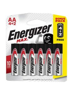 Energizer Max E 91 Bp Aa 4+2pc