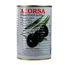Acorsa Olives Black Tin 225g