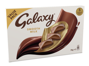 Galaxy Smooth Milk Chocolate Bars Multipack 5x36g