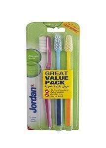 Jordan Tooth Brush Classic Hard 3pcs