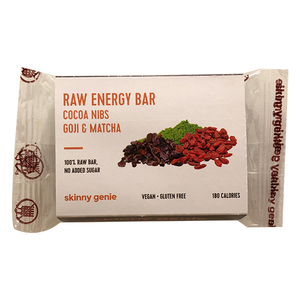 Raw Energy Bar Cocoa Nibs Goji & Matcha 40g
