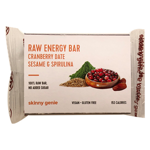 Raw Energy Bar Cranberry Date Sesame & Spirulina 40g