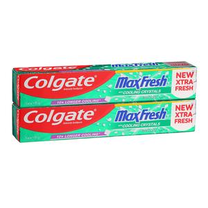 Colgate Maxfresh Cool Mint 2x75ml