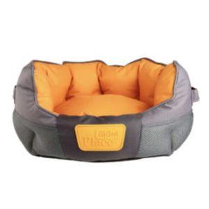 Gigwi Place Soft Bed Tpr Gray & Orange Medium 1pc