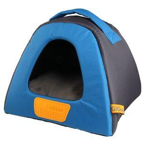 Gigwi Place Soft Pet House Plush TPR Blue & Gray Small 1pc