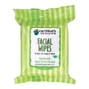 Earthbath Hypoallergenic Facial Wipes Fragrance Free 25pcs