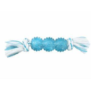 Chomper Dental Rope Bone With TPR Tube Blue 1pc