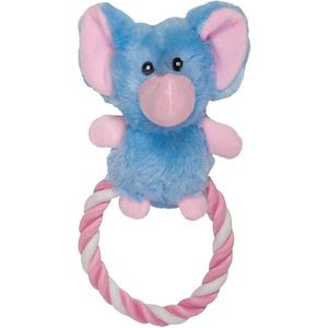 Chomper Plush Rope Ring Elephant 1pc