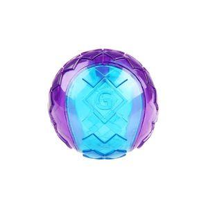 Gigwi Ball Purple / Blue Squeaker Transparent Medium 1pc