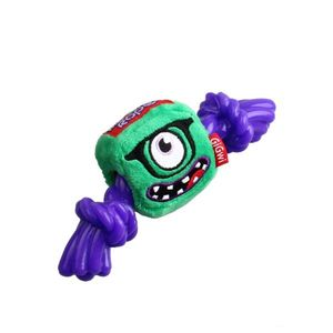Gigwi Green Monster Rope Squeaker Inside Plush/Rope Small 1pc