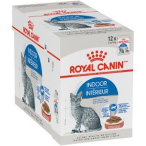 Royal Canin Feline Health Nutrition Indoor Wet Food Pouches 12x85g