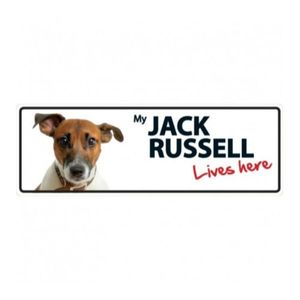 Magnet & Steel Jack Russell (Lives Here) Sign (Land) 1pc