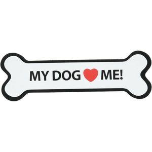 Magnet & Steel My Dog Loves Me Magnet 1pc